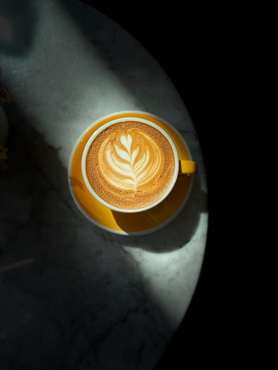 cappuccino in ceramic mug